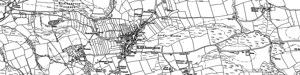 Old map of Thurdon in 1884