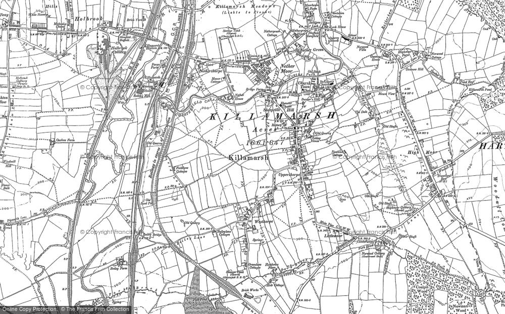 Old Map of Killamarsh, 1876 - 1897 in 1876