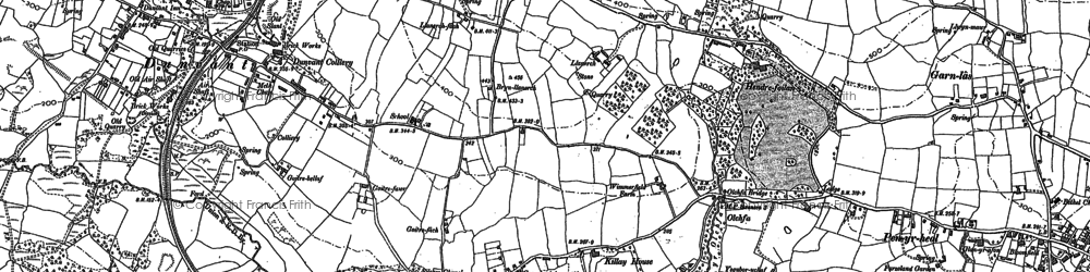 Old map of Killay in 1896