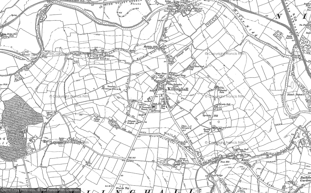 Old Map of Historic Map covering Bardner Wood in 1889