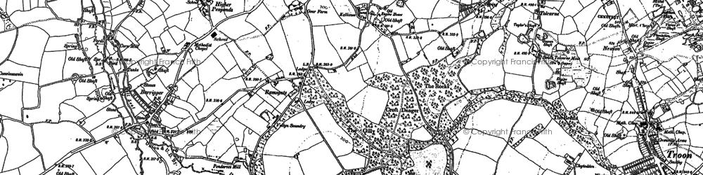 Old map of Killivose in 1877