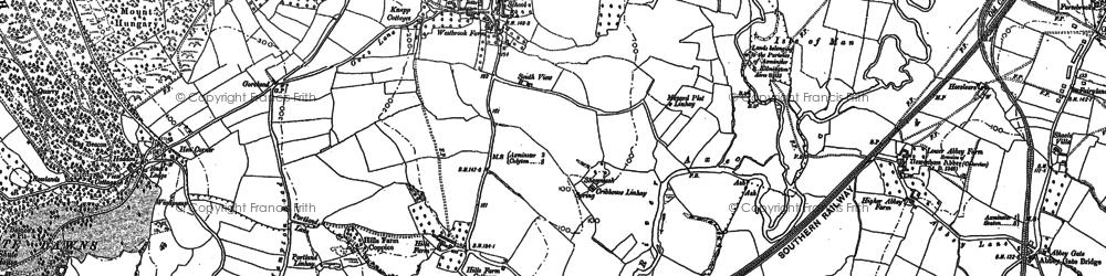 Old map of Kilmington in 1887