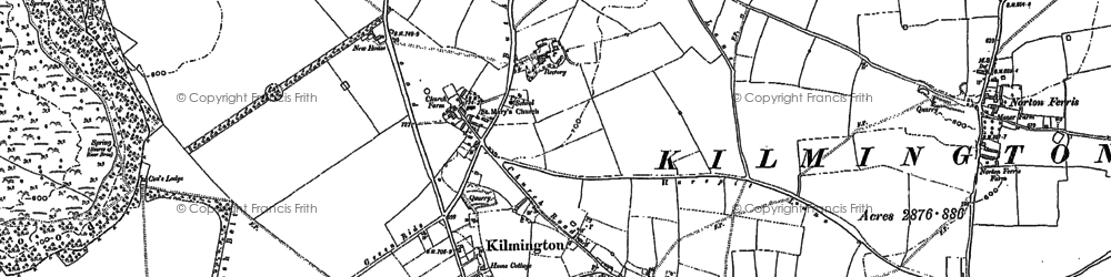 Old map of Yarnfield Gate in 1900