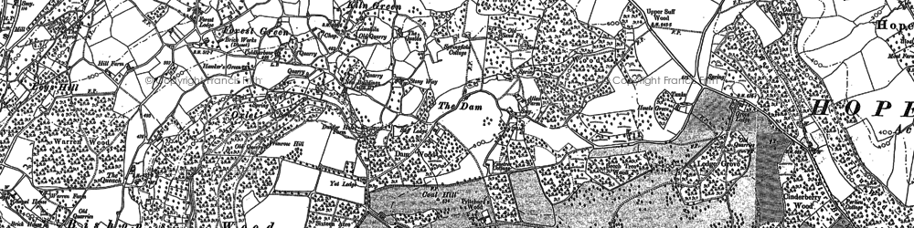 Old map of Bishop's Wood in 1887