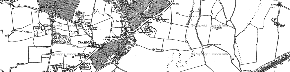 Old map of Linden Hill in 1910