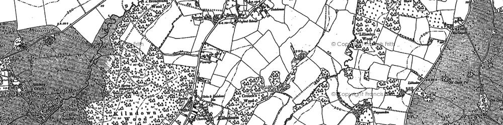 Old map of Kilndown in 1907