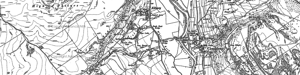 Old map of Amerdale Dub in 1907