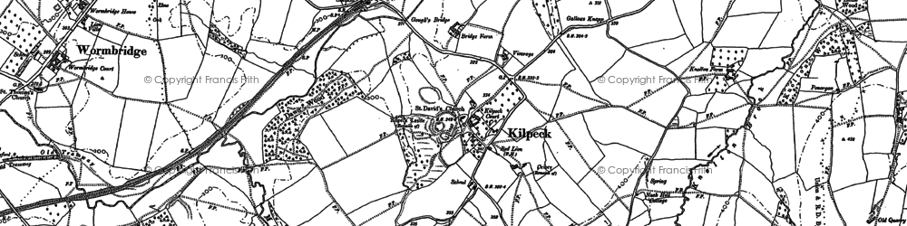 Old map of Kilpeck in 1886