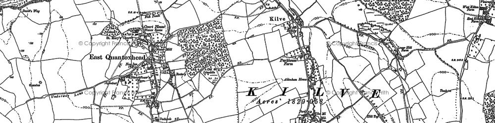 Old map of Kilve in 1902