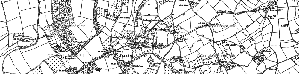 Old map of Bache in 1885
