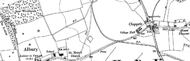 Old map of Bordie centred on your home