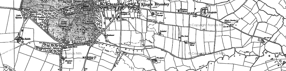 Old map of Ashby Sitch in 1882