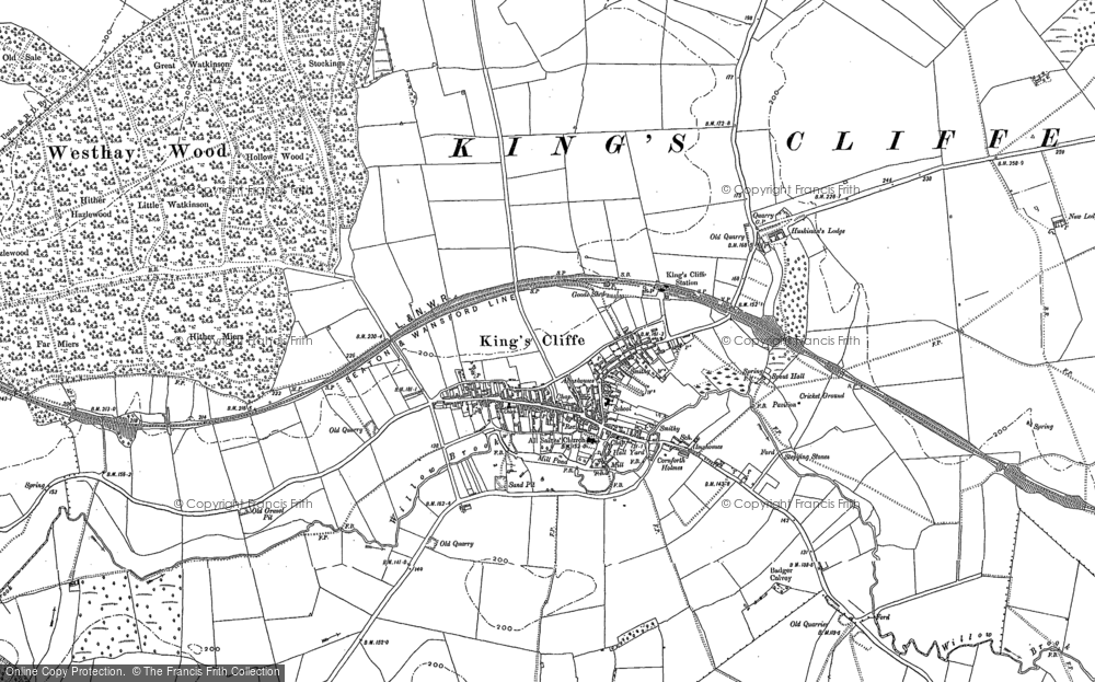 Old Map of Historic Map covering Law's Lawn in 1885