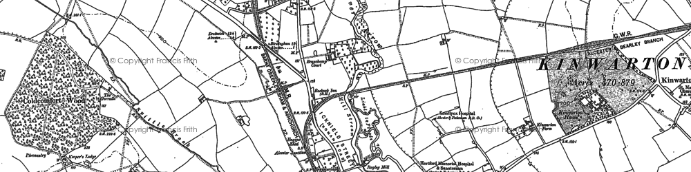 Old map of Alcester Lodge in 1885