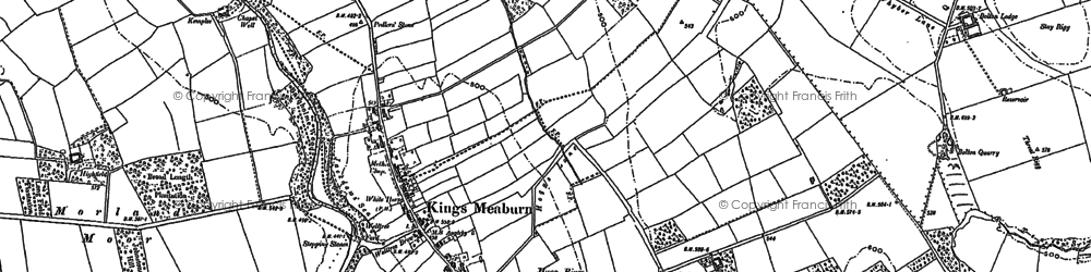 Old map of Wickerfield in 1897