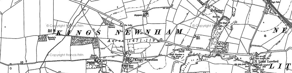 Old map of All Oaks Wood in 1886