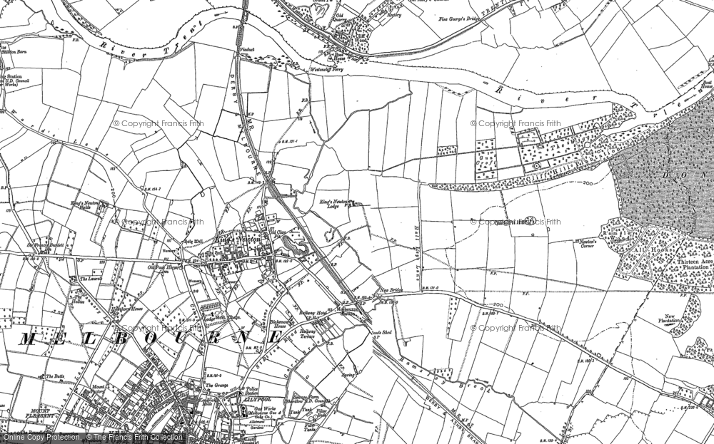 Old Map of King's Newton, 1899 in 1899