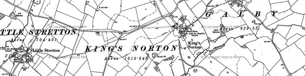 Old map of King's Norton in 1885