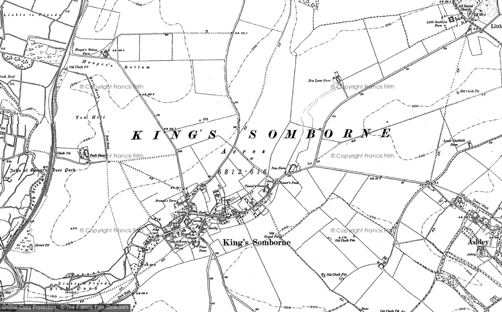 Old Map of Historic Map covering Ashley Down in 1894