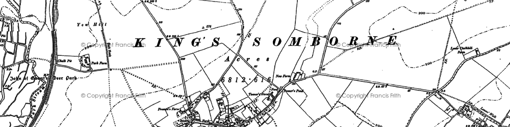 Old map of Yew Hill in 1894