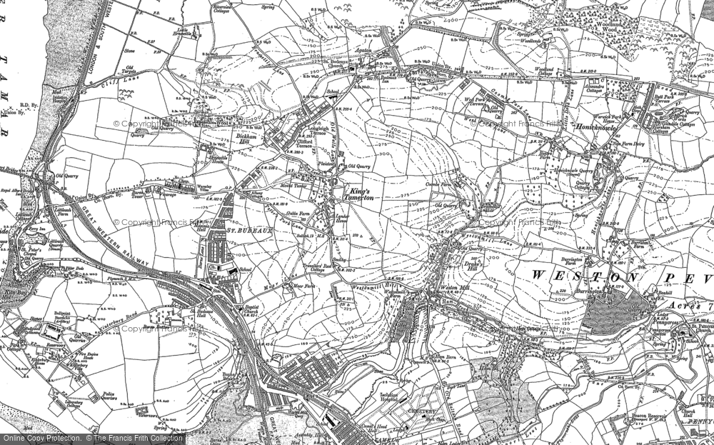 Old Map of King's Tamerton, 1912 in 1912