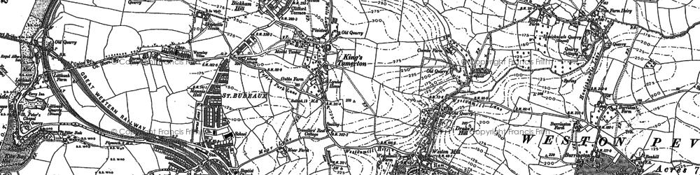 Old map of King's Tamerton in 1912