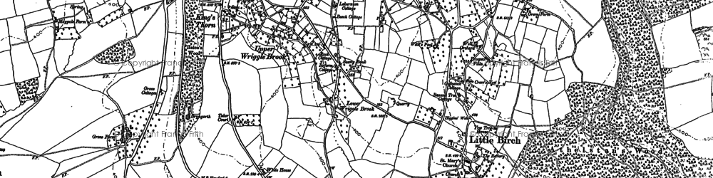 Old map of Aconbury Hill in 1886