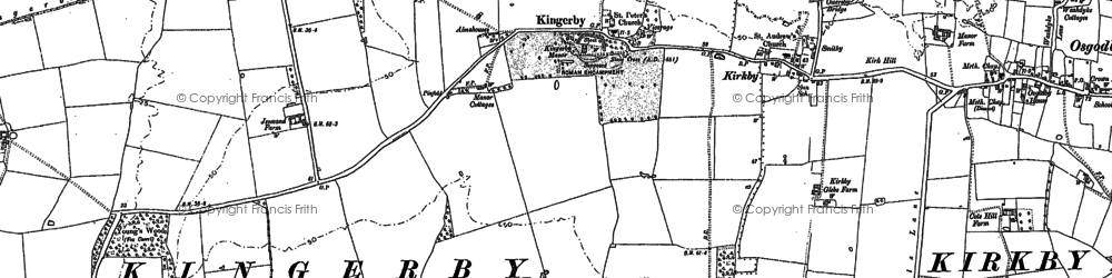 Old map of Young's Wood in 1886