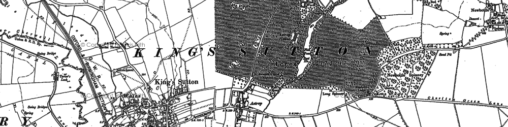 Old map of Astrop Ho in 1898