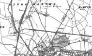 Old Map of Kings Worthy, 1895