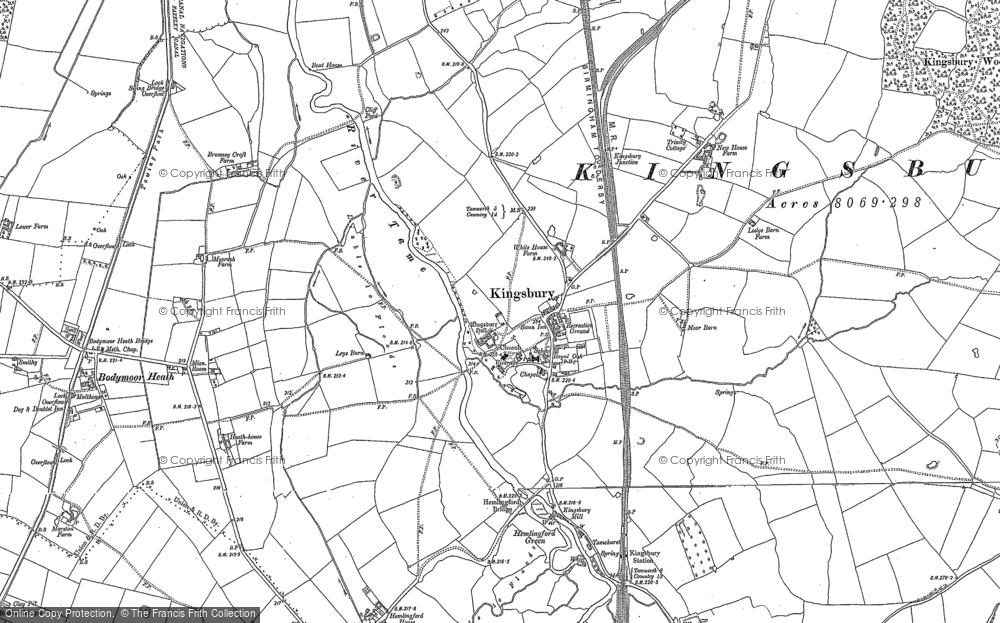 Old Map of Kingsbury, 1886 - 1901 in 1886