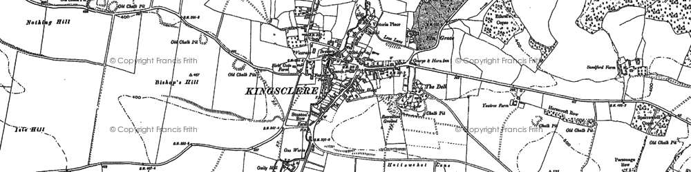 Old map of Kingsclere in 1894