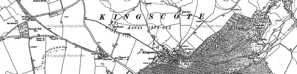 Old map of Ashel Barn in 1881