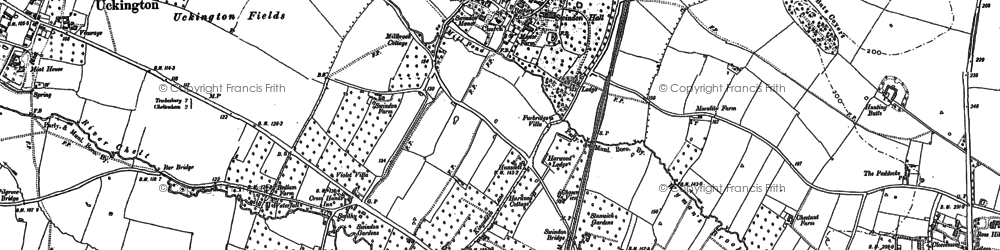 Old map of Arle in 1883