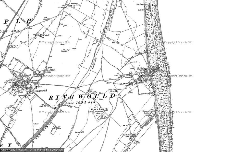 Old Map of Kingsdown, 1896 in 1896