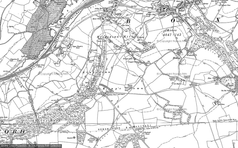 Old Map of Kingsdown, 1919 - 1922 in 1919