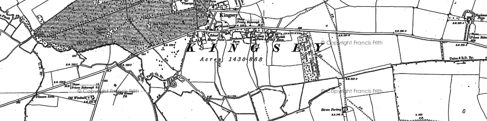 Old map of Church End in 1897