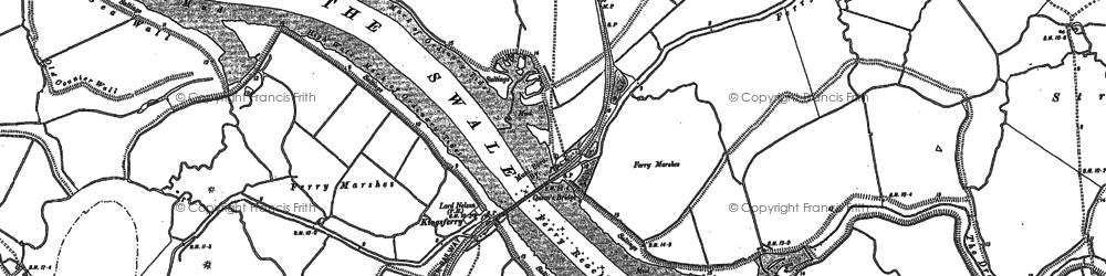 Old map of Kingsferry Bridge in 1896