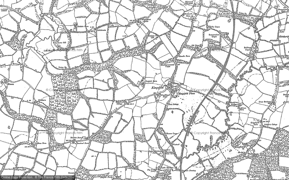 Old Map of Historic Map covering Langhurst in 1909