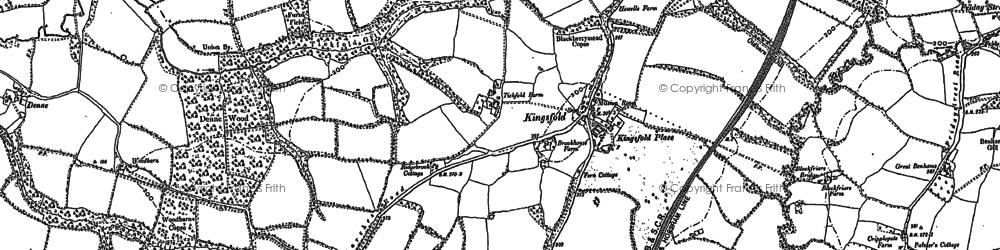 Old map of Langhurst in 1909