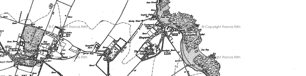 Old map of White Ness in 1905