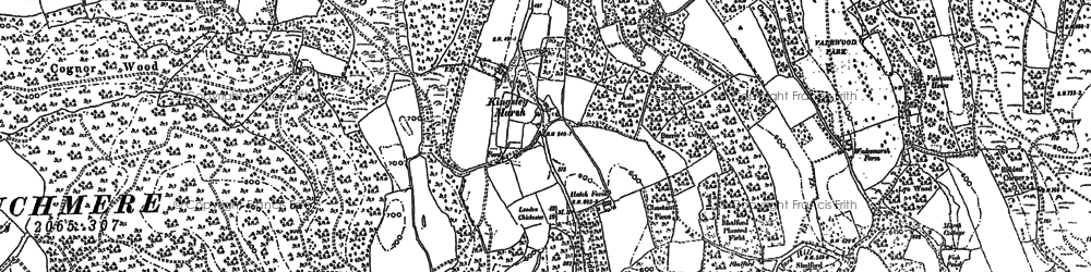 Old map of Whitehanger in 1910