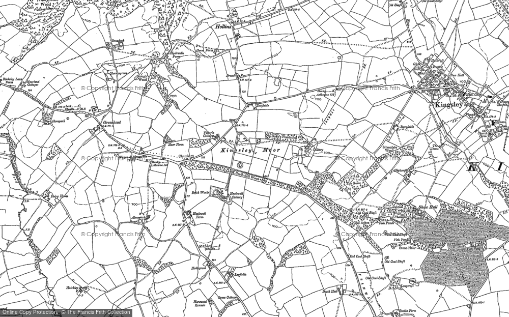 Old Map of Kingsley Moor, 1879 in 1879