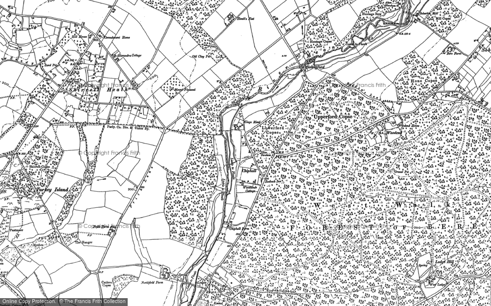 Old Map of Historic Map covering Woodend in 1895