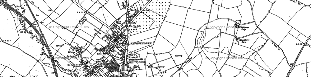 Old map of White Hills in 1884