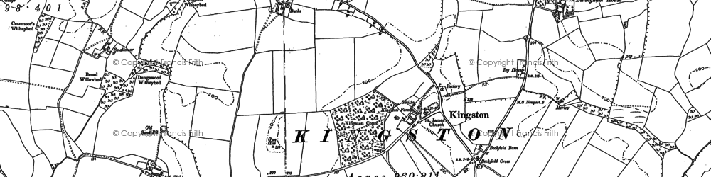 Old map of Kingston in 1907