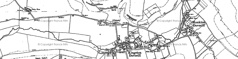 Old map of Whitepits in 1900