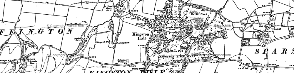 Old map of Kingston Lisle in 1898
