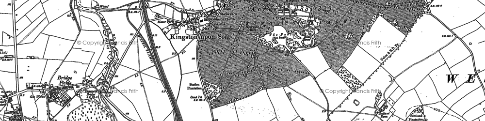 Old map of Winking Hill in 1899