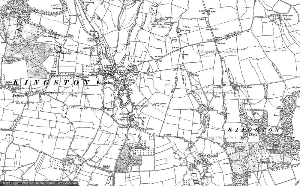 Old Maps of Kingston St Mary Francis Frith